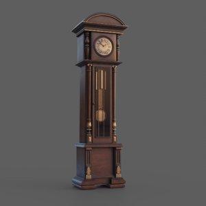 photorealistic pendulum clock 3D model