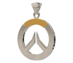 3D overwatch logo pendant