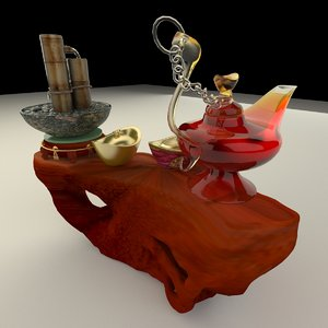 3D aladdin magic lamp chinese