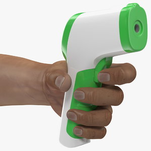 infrared thermometer hand 3D