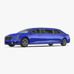 3D stretch limousine model