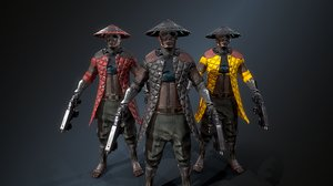 3D model cyber samurai 2