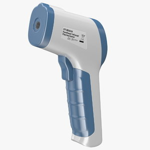 3D infrared forehead thermometer gun model