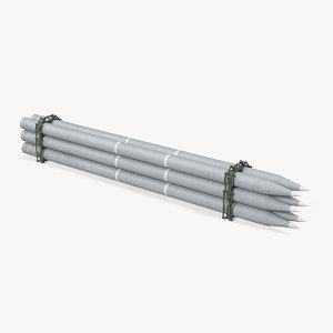 spare rockets 3D model