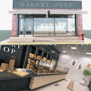 3D bakery store
