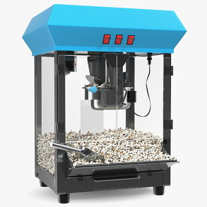 3D model popcorn popper machine generic