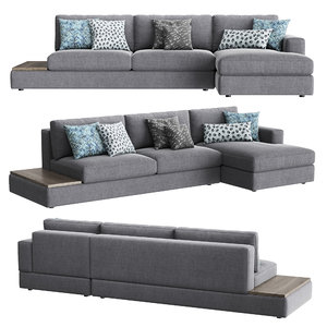 3D confort line abaco chaise sofa