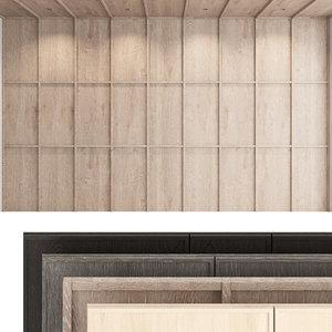 decorative wall panel set 3D