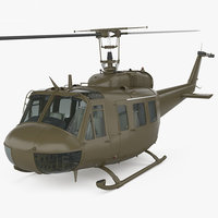 Bell UH-1 Iroquois with HQ interior