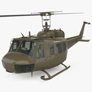 bell uh-1 uh 3D