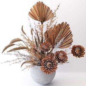dried flower 3D model