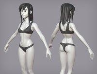 Cartoon female character Lora base mesh