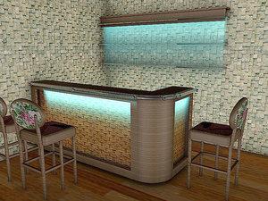 3D model american bar