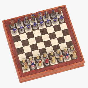 chess board set 3D