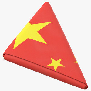 3D flag folded triangle china