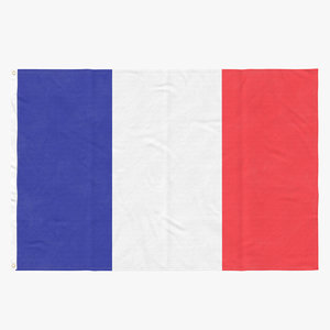 3D flag laying pose france