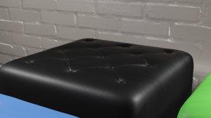 3D puff sofa