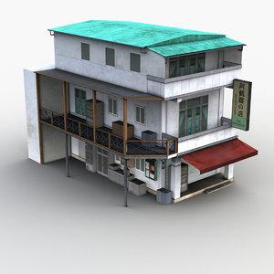 3D model asian house 0011