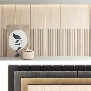 decorative wall panel set model