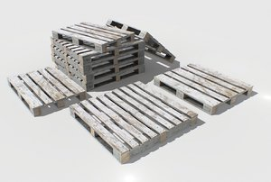 industrial pallets pbr 3D model