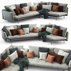 b italia sofa sake 3D