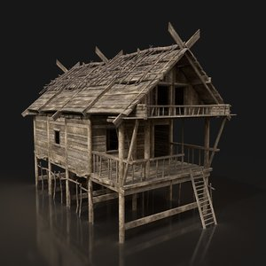 medieval house enterable model