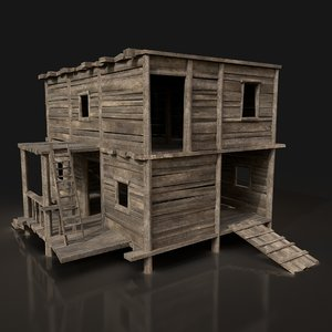 3D model wooden enterable