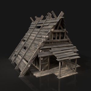 viking hut - 3D model