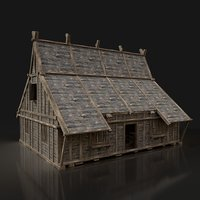 Next Gen AAA FANTASY MEDIEVAL WOODEN TOWN HOUSE FOREST HUT