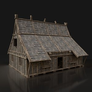 fantasy medieval wooden forest model