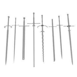 two-handed swords s 3D