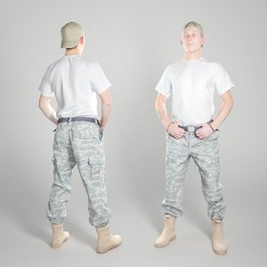 3D equipped soldier american