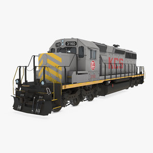 3D locomotive sd40-2 kcs sd40 model