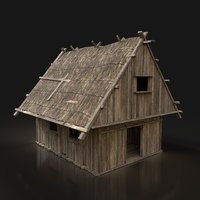 Next Gen AAA Simple Thatched Hut Cottage House Cabin Wooden