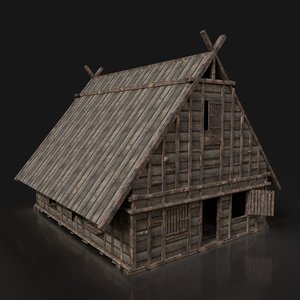 ready town house buildings 3D model