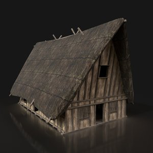 3D ready thatched medieval fantasy