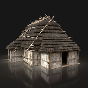 ready thatched medieval fantasy 3D model