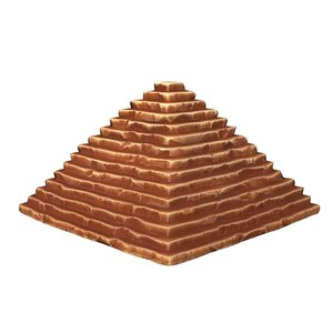 3D cartoon pyramid model