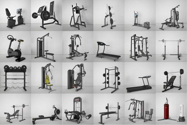 Gym equipment 3D model - TurboSquid 1568013