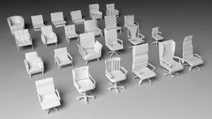 armchair pack - 24 3D
