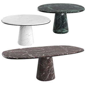 3D dining table meridiani owen model