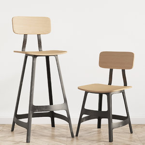 yardbird dinning chair barstool 3D model