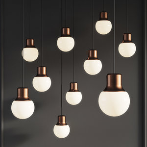 3D mass pendant light andtradition