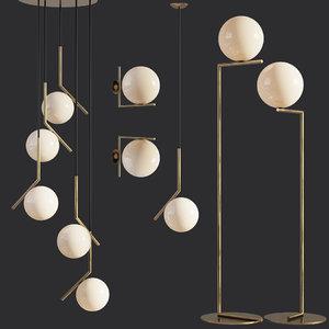 ic lights set 5 3D model