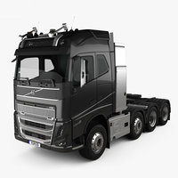 Volvo FH16 Globetrotter Cab Tractor Truck 4-axle 2020