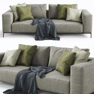 flexform sofa ettore 3D model