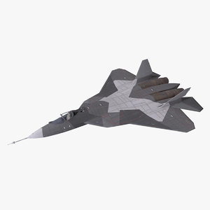 sukhoi su-57 3D model