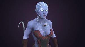 3D model warrior female