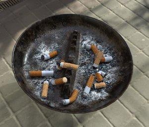 old ashtray 3D model