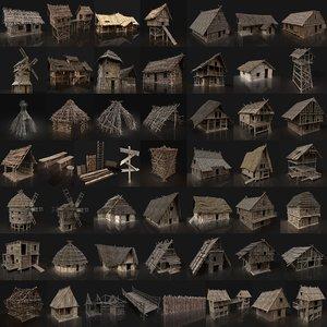 3D buildings gen aaa medieval